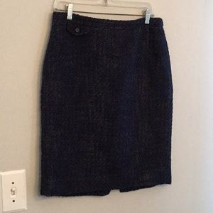 J. Crew size 8 no. 2 pencil skirt navy wool